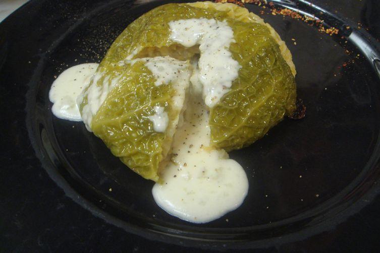 Verza Ripiena - Stuffed Savoy Cabbage