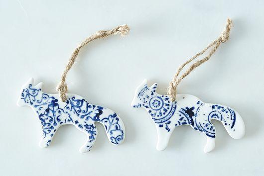 Ceramic Ornaments (Set of 2)