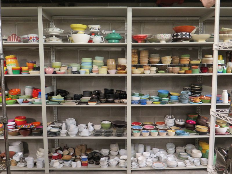 Where would the art of food TV be without mis-en-place? There's a condiment bowl to suit every taste on these shelves.