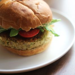 Hummus and Mint Veggie Burgers