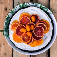 End of Winter Dark Chocolate Buckwheat Cake w/ Citrus & Rosemary {gf}