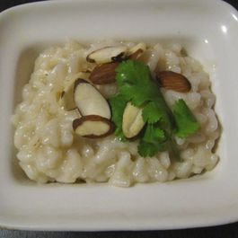 Sesame Almond Risotto with Parmesan