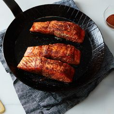 Seared Salmon with Cinnamon and Chile Powder