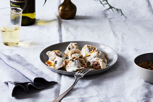 Shish Barak (Lebanese Lamb Dumplings in Yogurt Sauce)