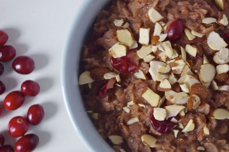 Spiced Cranberry-Orange Maple Breakfast Porridge