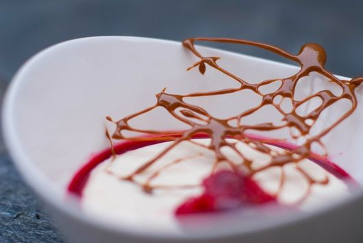 Buttermilk Panna Cotta with Raspberry Coulis