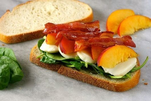 Peach, Bacon, and Smoked Mozzarella Panini
