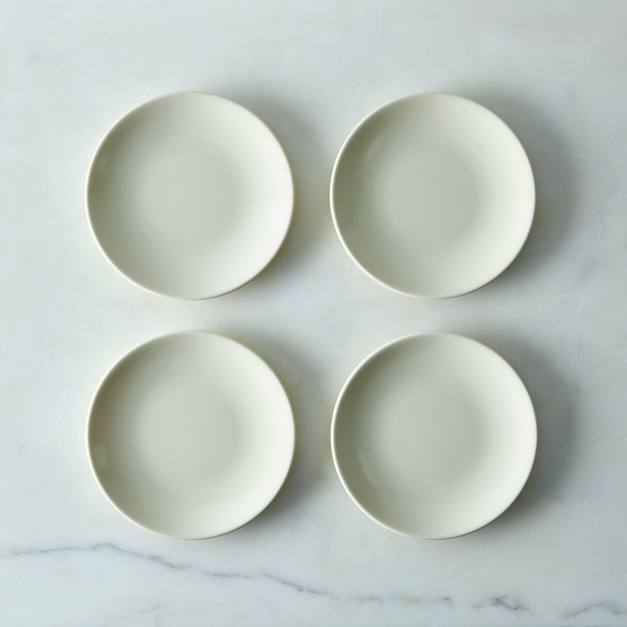 Russel Wright Melamine Dinnerware & Serveware Bone, Salad Plates (set Of 4)