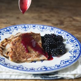 Quinoa Crêpes with Blackberry and Plum Compote