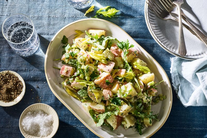 Creamy Tahini Potato Salad