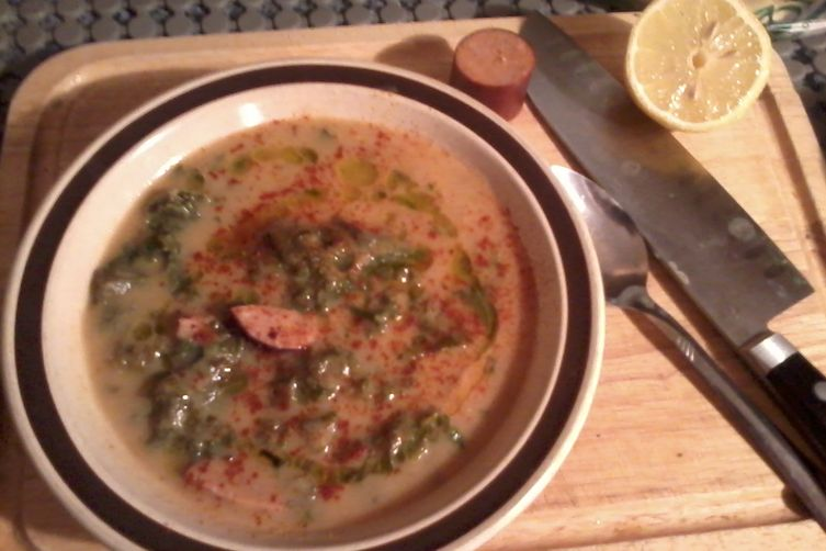 Caul-do Verde (Portuguese Caldo Verde with Cauliflower)