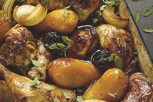 Yotam Ottolenghi's Chicken with Prunes and Pomegranate Molasses