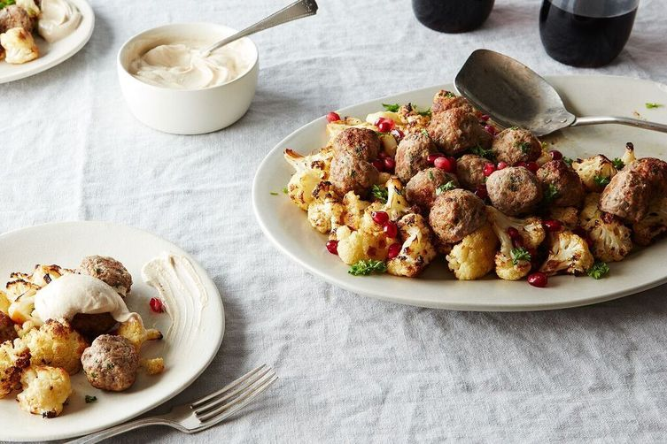 Lamb Meatballs With Yogurt And Pomegranate Seed Sauce Recipes ...