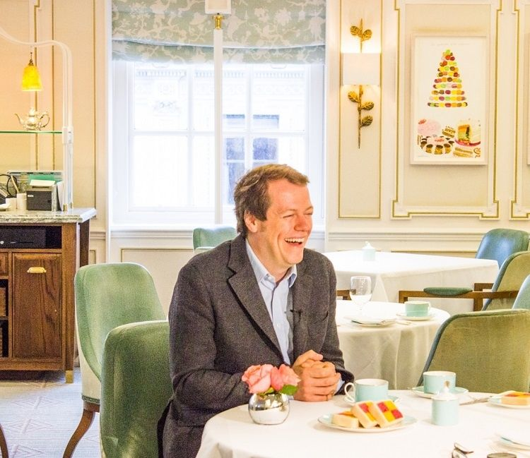 Tom Parker Bowles taking tea...is there anything more British?