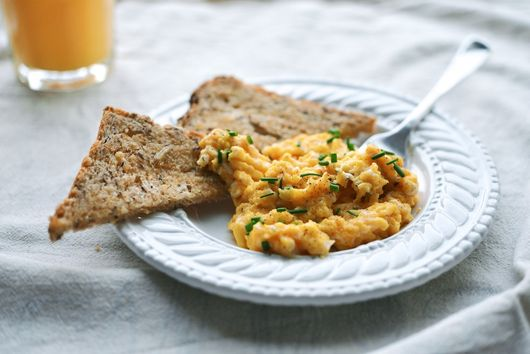 Softest, Slow-Cooked Scrambled Eggs