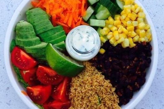 Mexican Rainbow Salad Bowl