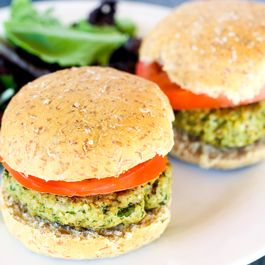 Walnut Pesto Turkey Burgers