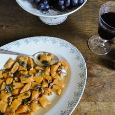 Sweet potato gnocchi with brown salted butter, walnuts & crispy sage