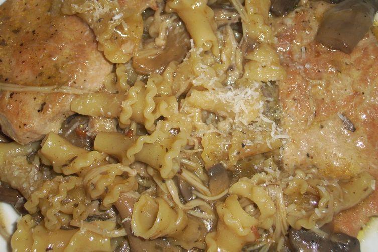 Pork and mushroom pasta