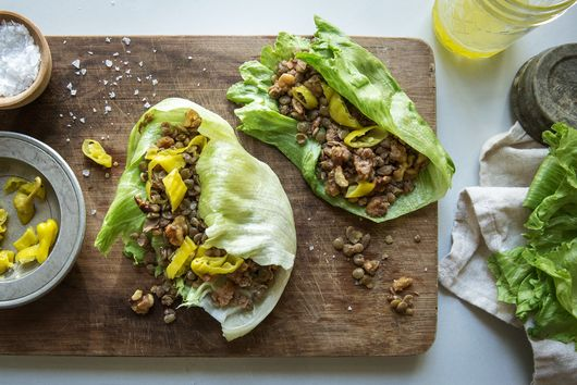 Walnut-Lentil Lettuce Wraps