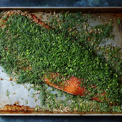 Darra Goldstein's Gravlax (Salt-and-Sugar-Cured Salmon)