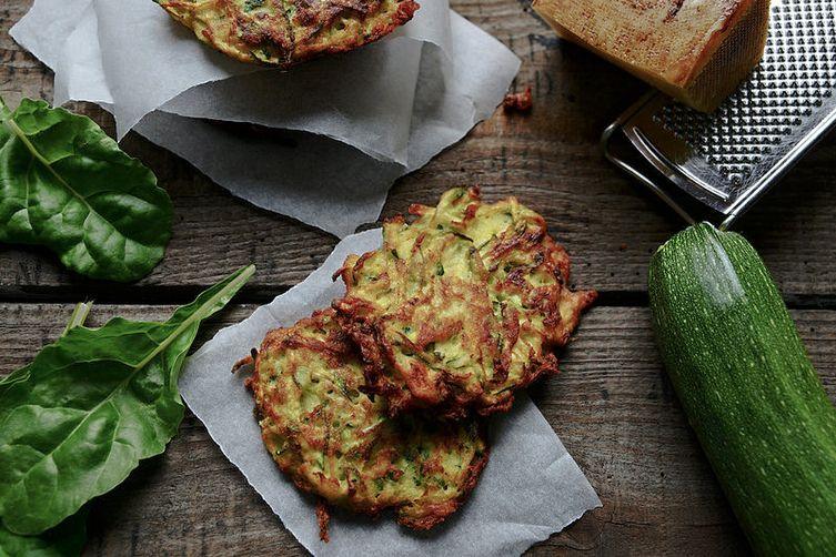 """Kolokithokeftedes""  Greek Zucchini Fritters"
