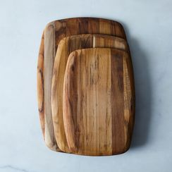 Rounded Edge Teak Cutting Boards (Set of 3)