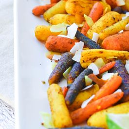 Curried Roasted Baby Carrots