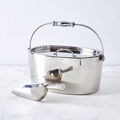 Stainless Steel Hand-Friendly Ice Bucket & Scoop
