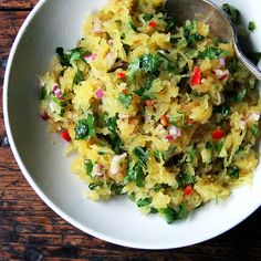 Spaghetti Squash with Chiles, Lime, and Cilantro