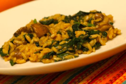 Pumpkin and Mushroom Risotto