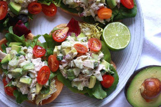 Open-Faced Avocado and Tuna Sandwich