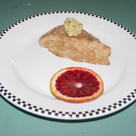 Feta Blood Orange Scones with Minted Blood Orange Whipped Butter