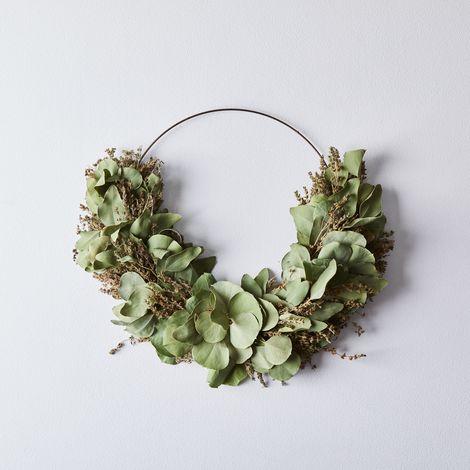 Savory Eucalyptus Half Wreath