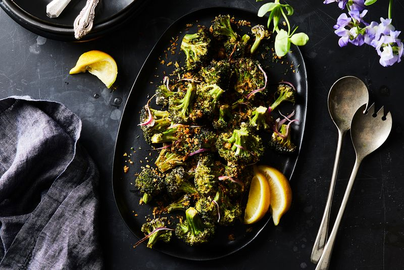 A buttermilk and preserved lemon brine takes roasted broccoli to the next level.