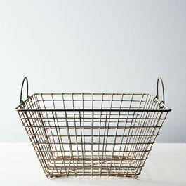 Vintage French Oyster Basket
