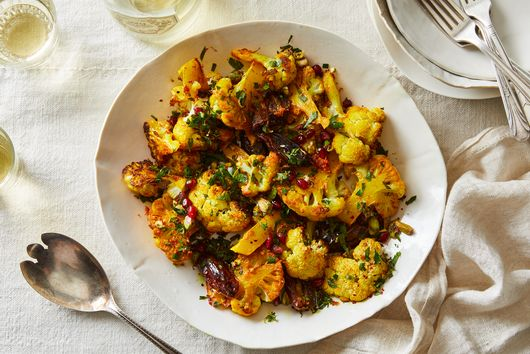 Turmeric-Roasted Cauliflower with Pistachio Gremolata