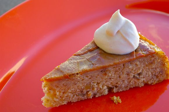 Maple Persimmon Upside Down Cake