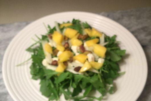 Pistachio Mango Baby Arugula Salad