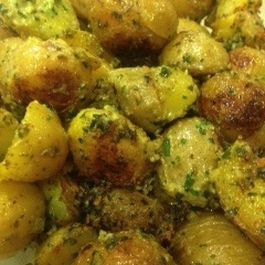 Basil Buttered Baby Potatoes
