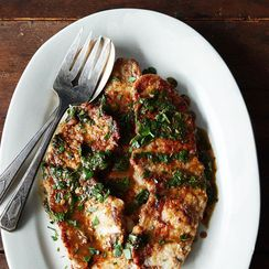 Dinner Tonight: Veal Scallopine + Orzo Salad