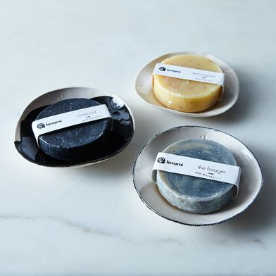 Organic Soap & Handmade Porcelain Dish Gift Box