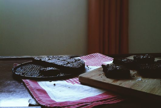 Salted Olive Oil Brownies