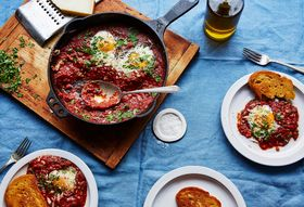 F5440288 7213 4243 9ee3 5dc2b41ba153  2017 0531 eggs in purgatory with capers and parsley bobbi lin 26875