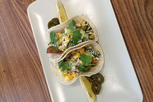 Blackened Fish Tacos with Piña Colada Salsa
