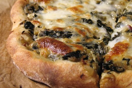 Swiss Chard and Artichoke 'White' Pizza