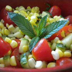 Sweet Corn, Tomato and Zucchini Salad