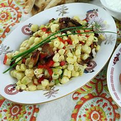 corn and pork belly salad
