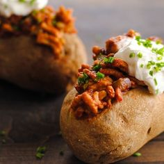 Chicken Sloppy Joe Stuffed Potatoes
