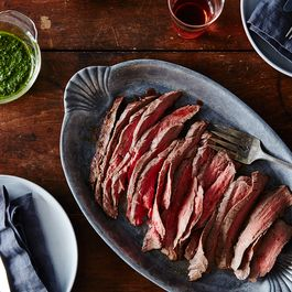 Flank Steak with Green Sauce